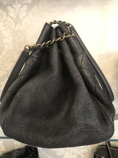 Chanel Italy Leather Distressed Quilted Shoulder Bag Image 2