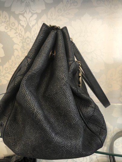 Chanel Italy Leather Distressed Quilted Shoulder Bag Image 3