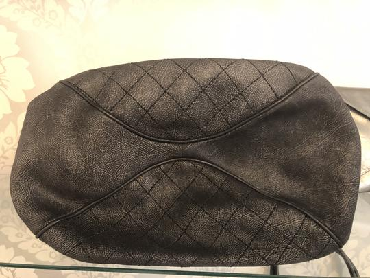 Chanel Italy Leather Distressed Quilted Shoulder Bag Image 6