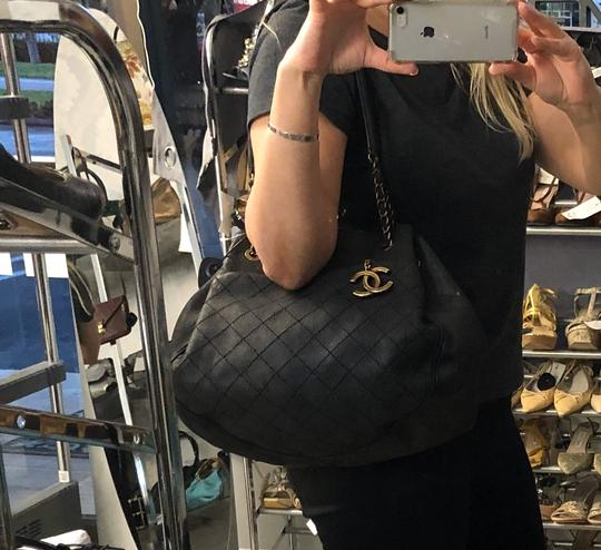 Chanel Italy Leather Distressed Quilted Shoulder Bag Image 7