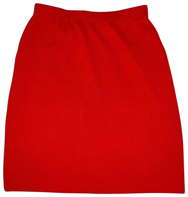 Item - Red Knit Skirt Size 4 (S, 27)