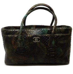 Chanel Tote in Green / Brown Multi