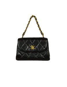 Chanel Quilted Vintage Lambskin Baguette