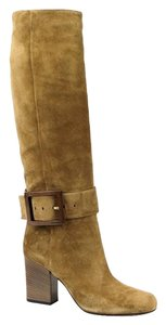 Gucci Women's Suede Over-the-knee Light Brown Boots