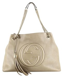 Gucci Chain Starp Leather Shoulder Bag