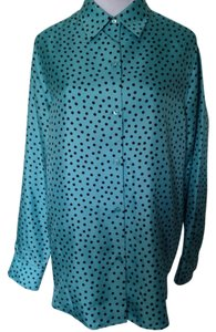 Jones New York Top Turquoise/Black