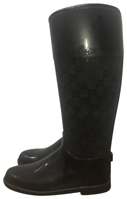 Item - Black Rainboots Boots/Booties Size EU 36 (Approx. US 6) Regular (M, B)