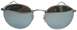 Ray-Ban RAY BAN RB3447 SILVER METAL 019/30 WITH SILVER FLASH LENS SUNGLASSES