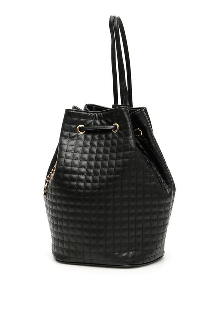 Item - Bucket Bag Cr Small C Charm Black Leather Backpack