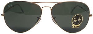 Ray-Ban RAY BAN RB3026 GOLD METAL LARGE GREEN CLASSIC LENS AVIATOR SUNGLASSES