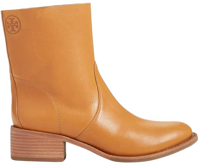 Item - Camel Brown Siena' Slouchy Pebbled Leather Stacked (M35) Boots/Booties Size US 9.5 Regular (M, B)