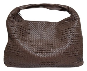 Bottega Veneta Ruffle Detail Nappa Leather Hobo Bag