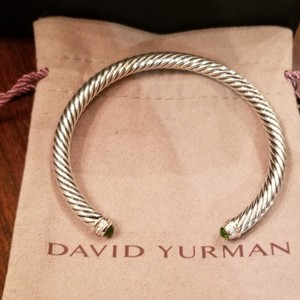 David Yurman David Yurman 5MM green peridot Cable Bracelet