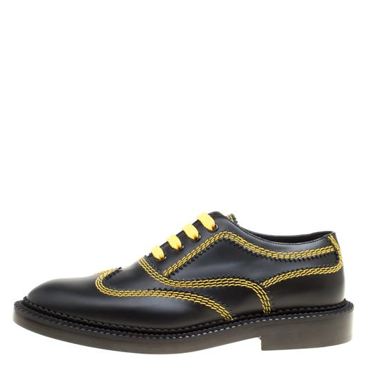 Burberry Leather Contrast Black Flats Image 1