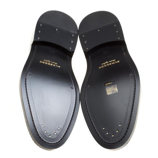 Burberry Leather Contrast Black Flats Image 5