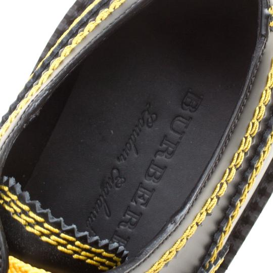 Burberry Leather Contrast Black Flats Image 6