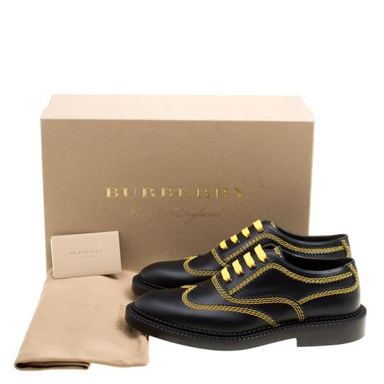 Burberry Leather Contrast Black Flats Image 7