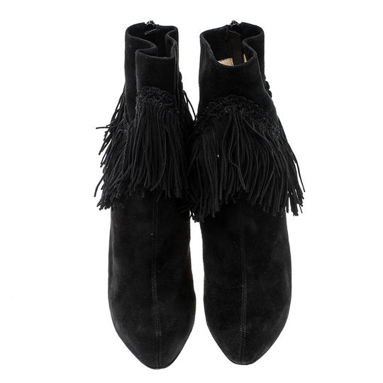 Christian Louboutin Suede Detail Platform Leather Black Boots Image 1