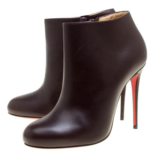 Christian Louboutin Leather Ankle Brown Boots Image 3
