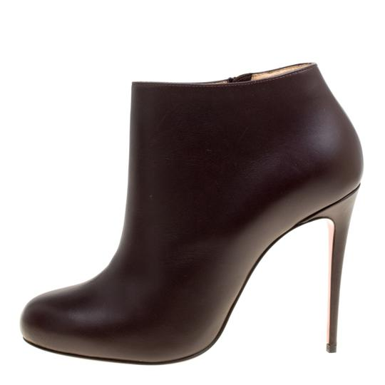 Christian Louboutin Leather Ankle Brown Boots Image 4