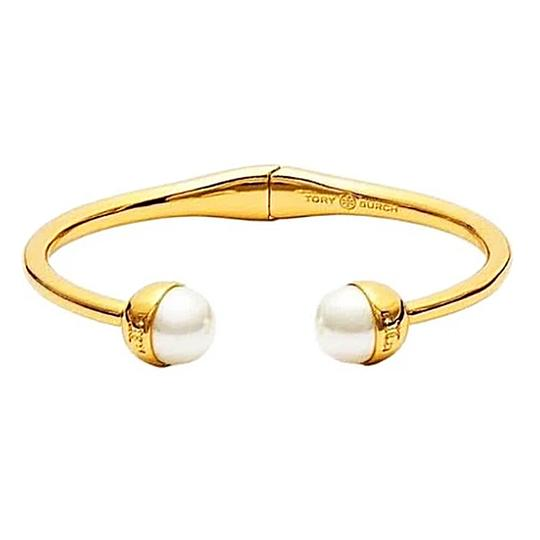 Tory Burch White Gold Womens Plated Br Pearl Ivory Bracelet 37 Off Retail