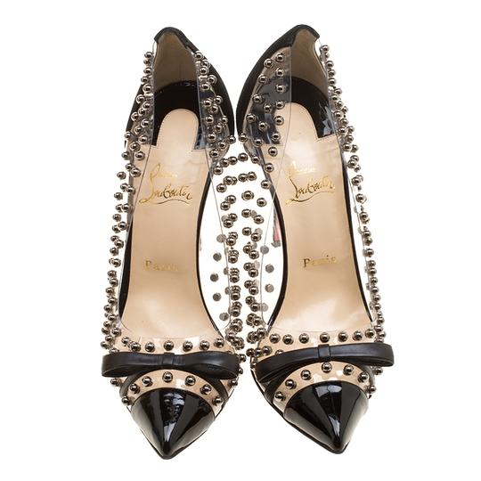 Christian Louboutin Studded Pvc Suede Leather Black Pumps Image 1