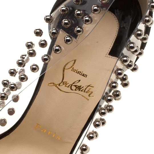 Christian Louboutin Studded Pvc Suede Leather Black Pumps Image 6