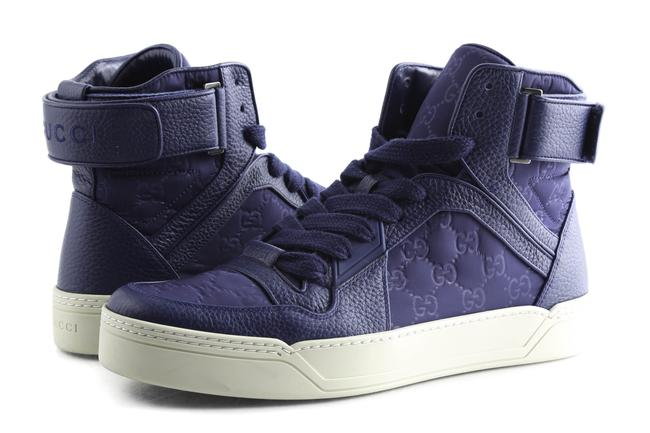Item - Blue Nylon ssima Camelot High Top Sneakers Shoes