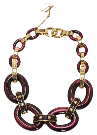 Preload https://img-static.tradesy.com/item/26426734/louis-vuitton-burgundy-gimme-a-clue-resin-necklace-0-1-540-540.jpg