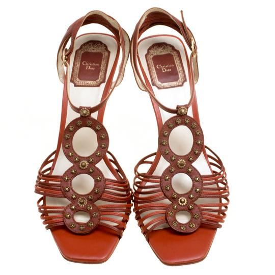 Dior Leather Ankle Strap Brown Sandals Image 2