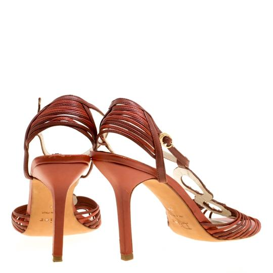 Dior Leather Ankle Strap Brown Sandals Image 3