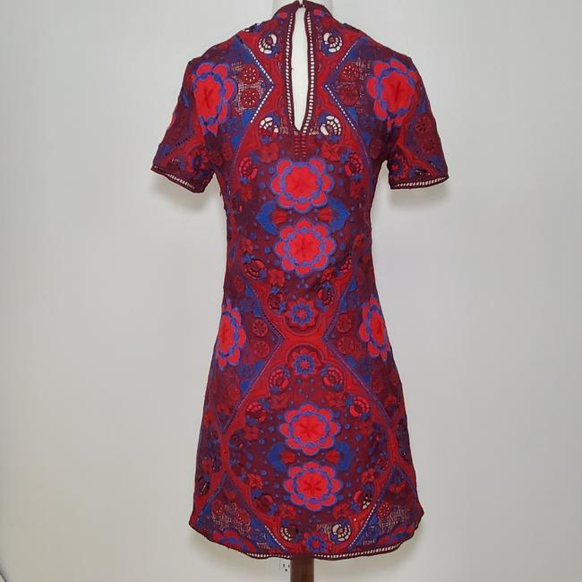 Sandro short dress Red, maroon, blue on Tradesy Image 2