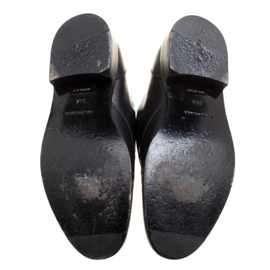 Balenciaga Leather Embellished Black Flats Image 6