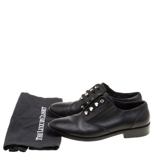 Balenciaga Leather Embellished Black Flats Image 7