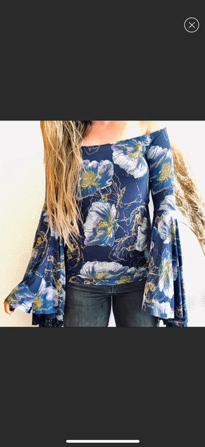 Free People Top blue Image 1
