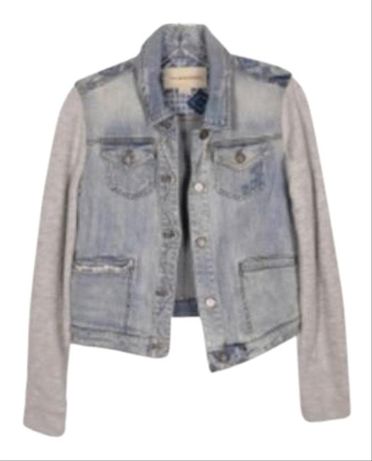 Item - Blue Grey Pilcro Terry with Knit Terry Sleeves Jacket Size 4 (S)