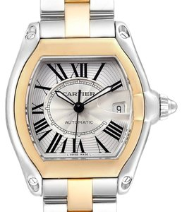 Cartier Cartier Roadster Yellow Gold Steel Automatic Mens Watch W62031Y4 Box