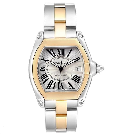 Cartier Cartier Roadster Yellow Gold Steel Automatic Mens Watch W62031Y4 Box Image 1