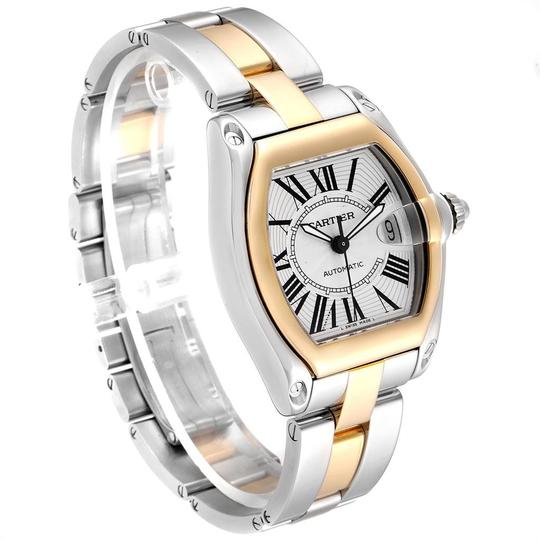 Cartier Cartier Roadster Yellow Gold Steel Automatic Mens Watch W62031Y4 Box Image 2
