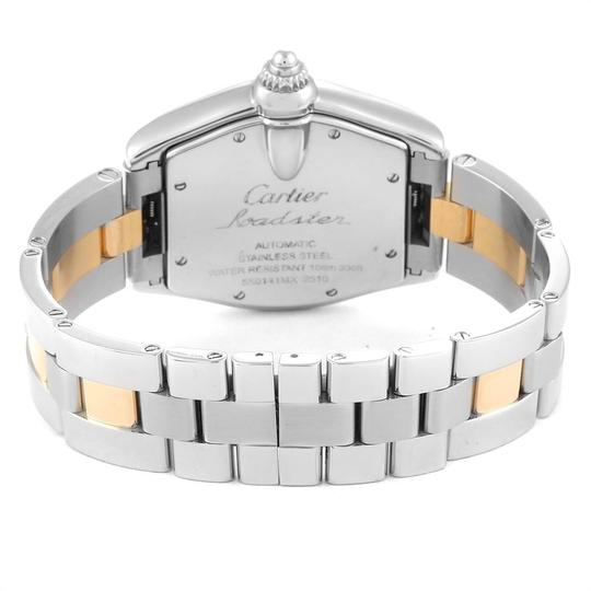 Cartier Cartier Roadster Yellow Gold Steel Automatic Mens Watch W62031Y4 Box Image 5