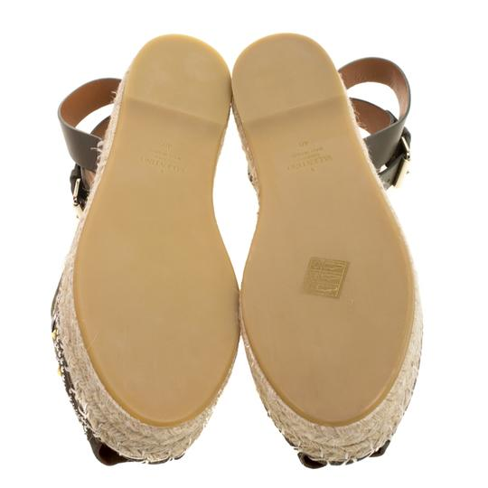 Valentino Embellished Suede Leather Ankle Strap Espadrille Green Flats Image 5