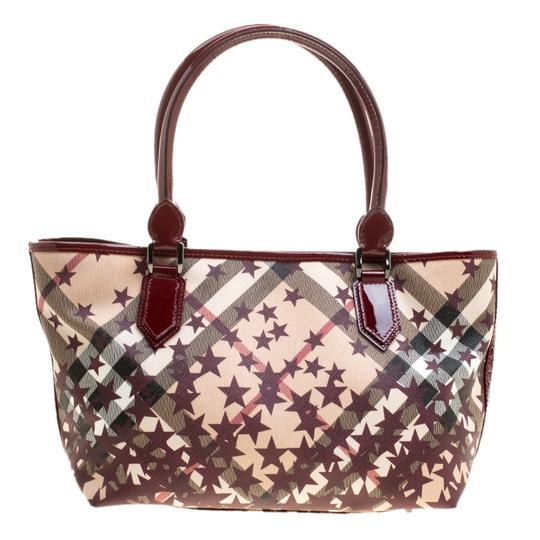 Burberry Pvc Canvas Tote in Tan Image 1