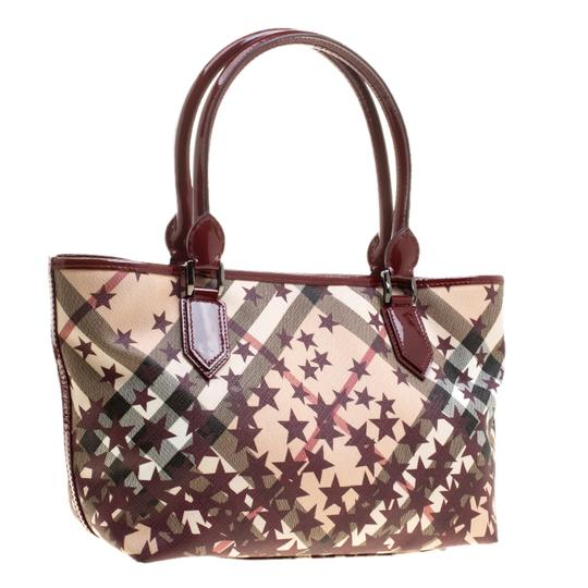 Burberry Pvc Canvas Tote in Tan Image 5