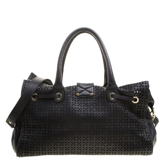 Jimmy Choo Leather Tote in Black Image 1