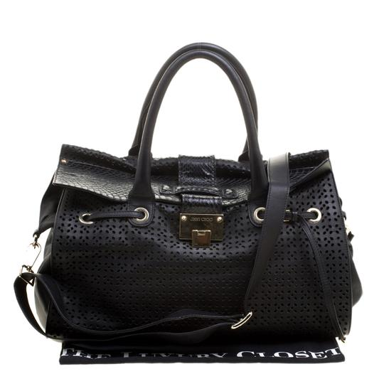 Jimmy Choo Leather Tote in Black Image 10