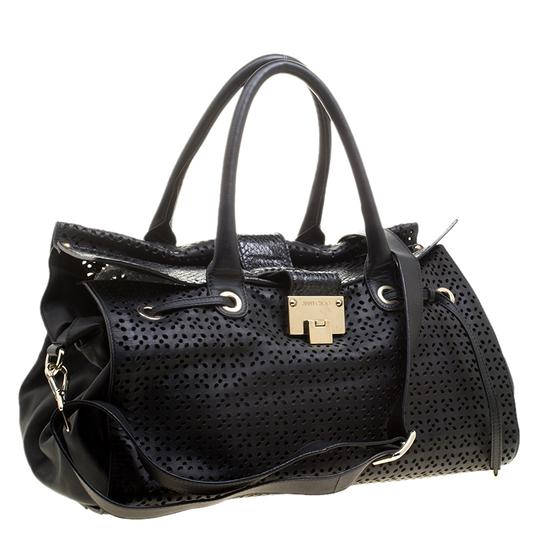 Jimmy Choo Leather Tote in Black Image 4