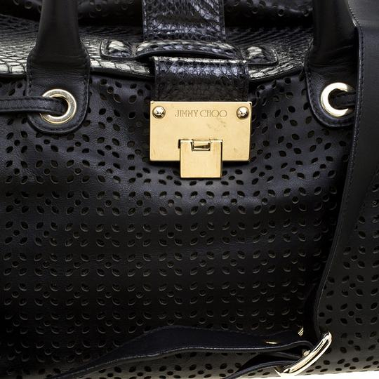 Jimmy Choo Leather Tote in Black Image 8