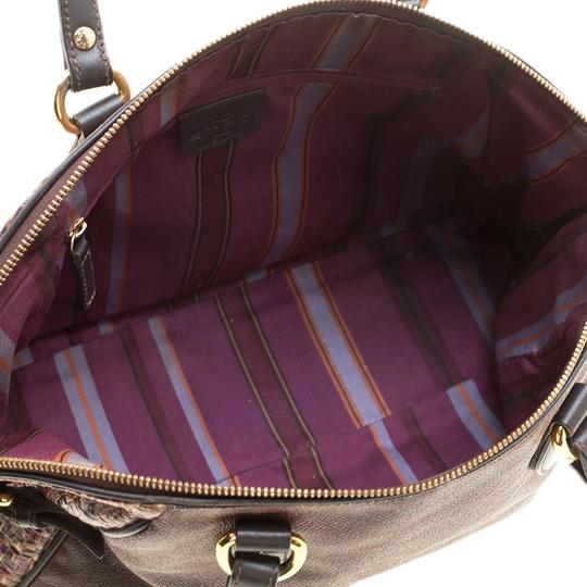 Etro Nylon Patent Leather Canvas Satchel in Brown Image 6