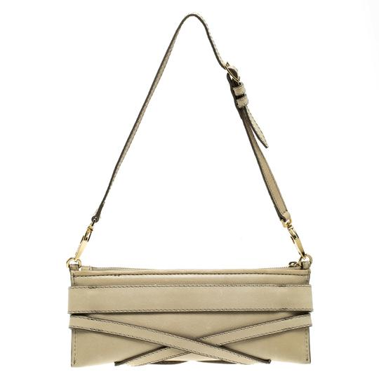 Burberry Leather Fabric Shoulder Bag Image 1