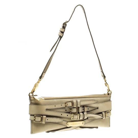 Burberry Leather Fabric Shoulder Bag Image 4